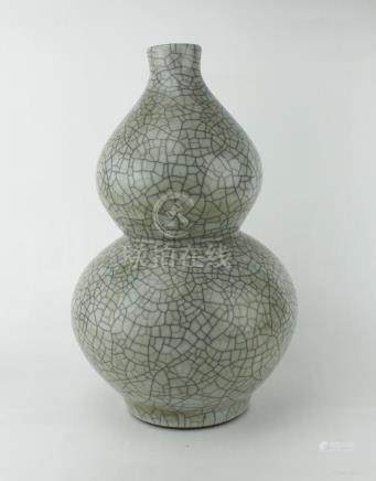 CHINESE GUAN STYLE DOUBLE GOURD VASE