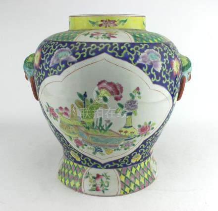 A LARGE FAMILLE ROSE JAR
