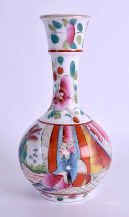 AN EARLY 20TH CENTURY CHINESE FAMILLE ROSE PORCELAIN VASE painted with a male within a landscape. 17