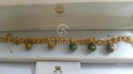 Carl Faberge's granddaughter, TATIANA FABERGE Imperial Collection, Bracelet in Original box