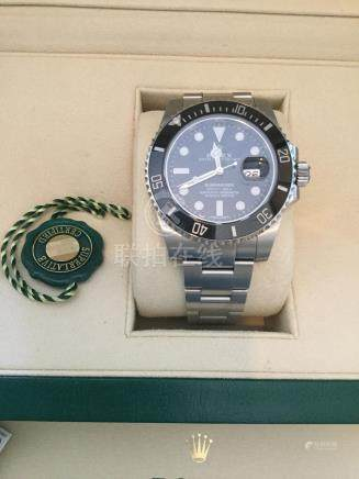 2015 Model Rolex Submariner in stainless steel with black dial and date