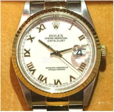 Gents Rolex Datejust 16233 Bi-Metal