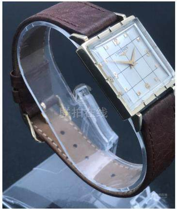 Longines 14k solid gold 26mm square Gentleman's dress watch