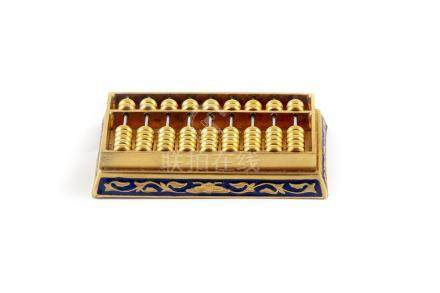 CHINEBoulier en métal doré.