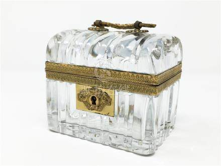 A Fine 19th Antique French Baccarat Crystal Box
