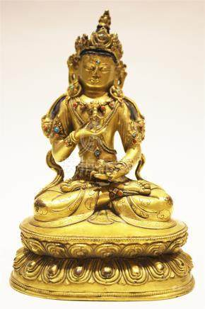 A Gilt-Bronze Figure Of Vajrasattva