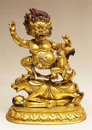 A Rare Gilt-Bronze Figure Of Buddha