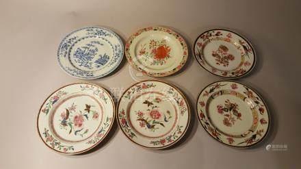 CHINE. XVIIIème siècle, XIXème siècle.  Porcelaine d'exportation. Ensemble de s