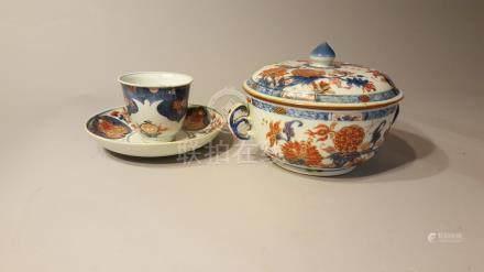 CHINE. XVIII et XIXème siècle. Porcelaine d'exportation Imari. Lot comprenant :
