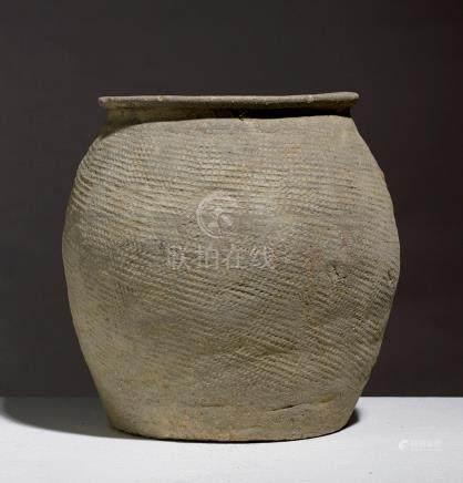POT.VIETNAM, CULTURE DE DÔNG SON, CA. 500 BCE - 100 BCE, Terre cuite à décor d'