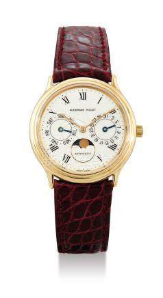 Audemars Piguet, A Gold Automatic Wristwatch with Day, Date and Moonphase Indication, Case No. G83198