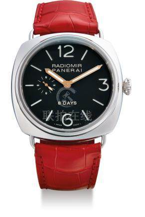 Panerai, A Limited Production Stainless Steel 8-Day Power Reserve Wristwatch