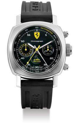 Officine Panerai for Ferrari, A Limited Edition Stainless Steel Automatic Split Seconds Chronograph Wristwatch with Flying 1/8th Seconds, FERR00025, No. F C003/300 Case No. 1336420