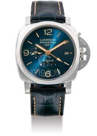 Panerai, A Fine Limited Edition Stainless Steel 10 Day Automatic Wristwatch with Date and GMT Indication, Luminor GMT, PAM00689, No. S081/300, Case No: BB1767093 OP 6985, with box and certificate