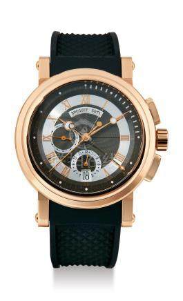 """Breguet, A Fine Pink Gold Automatic Chronograph Wristwatch with Date, """"Marine"""" No. 5827-5071AL"""