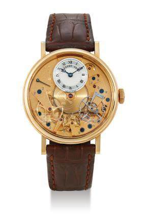 """Breguet, A Gold Automatic Semi-Skeletonised Wristwatch with Retrograde Seconds, """"La Tradition"""" Ref. 7037, Case No. 1087"""