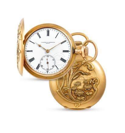 Vacheron & Constantin, A Pink Gold Hunter Case Keyless Pocket Watch