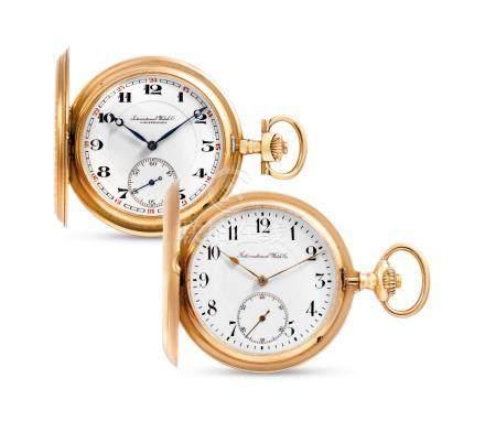 International Watch Co., Two Pink Gold Hunter Case Keyless Pocket Watches