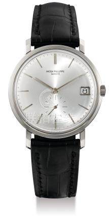 Patek Philippe, A Fine White Gold Automatic Wristwatch with Date