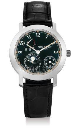 Patek Philippe, A White Gold Automatic Wristwatch with Date, Moon-Phases and Power Reserve Indication, Ref. 5055G, Mvt 3109477 Case No. 4023509, with certificate, box and manuals