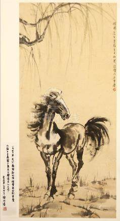 XU BEIHONG   (attributed to, 1895 – 1953) Chinese ink on paper, hanging scroll painting 105 x