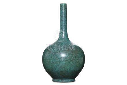 A CHINESE ROBIN'S-EGG GLAZED PEAR-SHAPED VASE. Qin