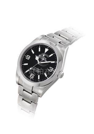 ROLEX.A STAINLESS STEELAUTOMATIC WRISTWATCH WITH SWEEP CENTRE SECONDSAND BRACELET