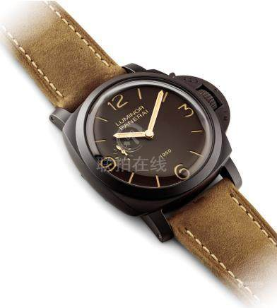 PANERAI.A RARE COMPOSITE SPECIAL EDITION CUSHION-SHAPED WRISTWATCH