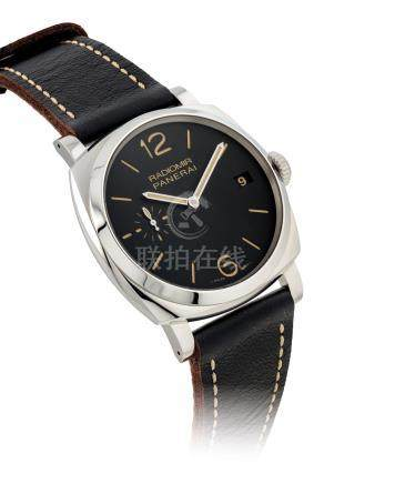 PANERAI.A STAINLESS STEEL CUSHION-SHAPED WRISTWATCH