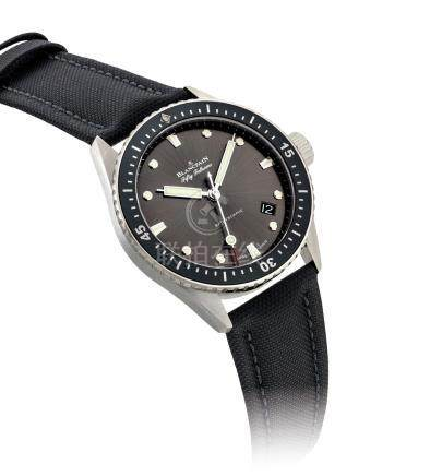 BLANCPAIN.A STAINLESS STEELAUTOMATIC WRISTWATCH WITH SWEEP CENTRE SECONDSAND DATE