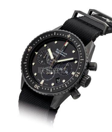BLANCPAIN.A FINE BLACK CERAMICAUTOMATIC FLYBACK CHRONOGRAPH WRISTWATCH WITH DATE