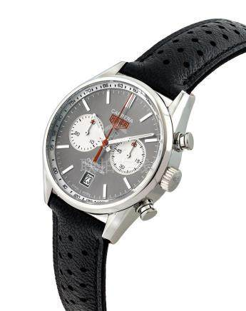 TAG HEUER.A STAINLESS STEELAUTOMATIC CHRONOGRAPH WRISTWATCH WITH DATE