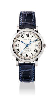 PARMIGIANI.A FINE 18K WHITE GOLDAUTOMATIC WRISTWATCH WITH SWEEP CENTRE SECONDSAND DATE