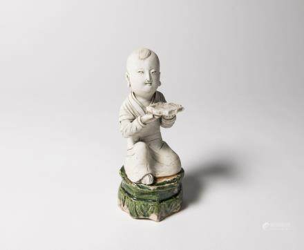 A Chinese Qingbai Porcelain Figure of Boy 宋代-影青童子