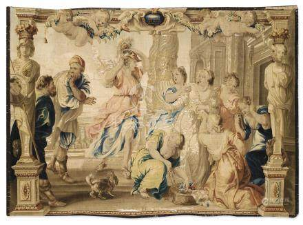 Tapestry 'Achilles and Lycomedes' daughters', from the tenture of Achilles Story, second half 17th century, Brussels, after Pierre Paul Rubens, Guillaume van Leefdael workshop