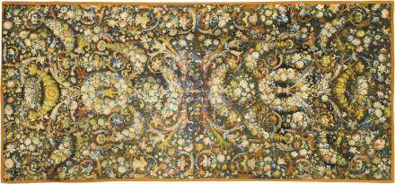 A wool 'au petit point' embroidery table carpet, circa 1660-1670, probably a French workshop