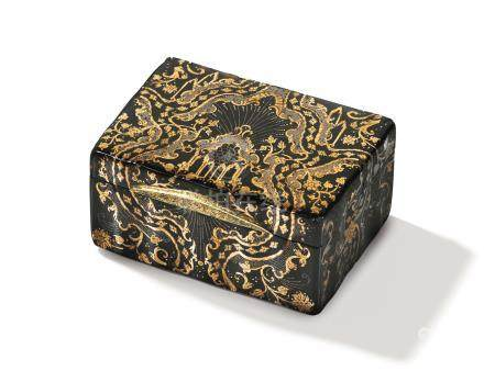 An Italian tortoiseshell and gold piqué small box, Naples, mid 18th century