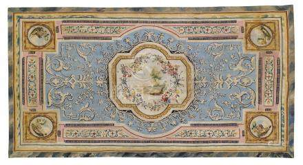 A wool and silk carpet, attributed to the manufacture of Beauvais or an Italian workshop, late 18th century