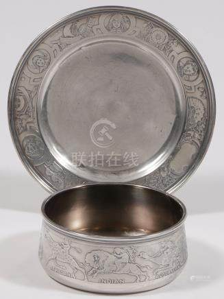 AMERICAN STERLING CHILD BOWL & PLATE KERR C 1900