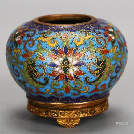 CHINESE CLOISONNE WATER COUPE