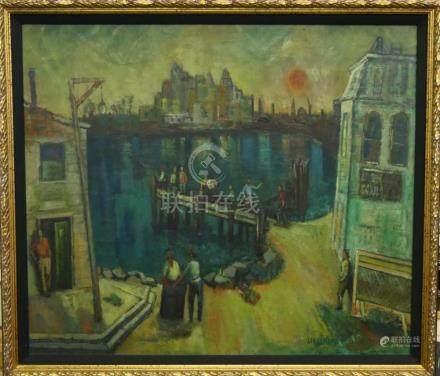 SAMUEL DAVID (USA 1895-1979) OIL PAINTING ON BOARD