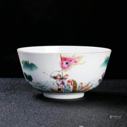 A Chinese Imperial Doucai Bowl, Qianlong