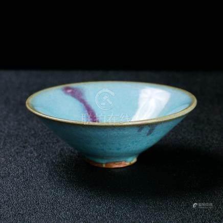A Chinese purple splashed Jun bowl