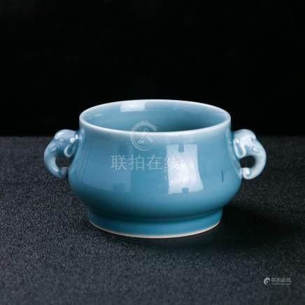 A Chinese Porcelain Incense Burner Signed