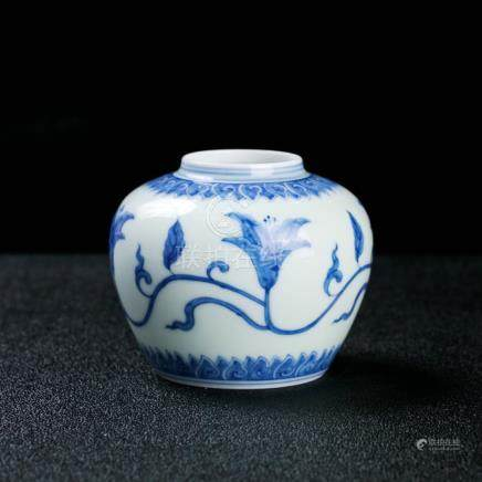 A Chinese Blue and White Porcelain Jar Signed
