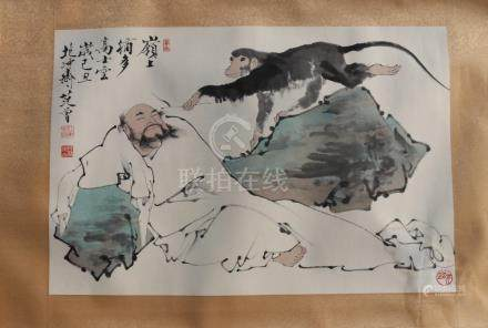 A Chinese Ink and Color Painting on Paper, Attribute to Fan
