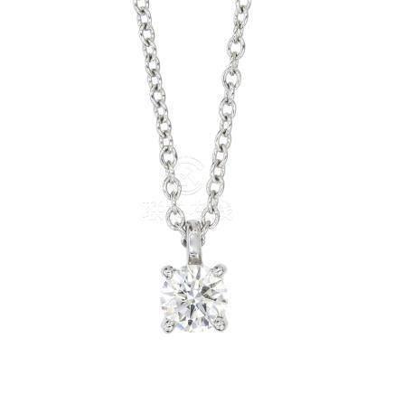 蒂芙尼 鑽石 鉑金項鍊
