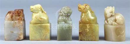 Chinese Hardstone/Soapstone Seals