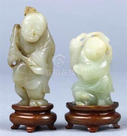 Chinese Jade Figural Carvings, Liu Hai