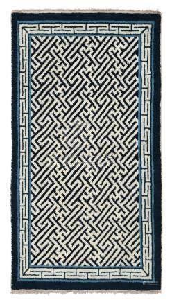 Piccolo tappeto Tibet, prima metà XX secolo,